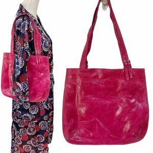 Patrizia Pepe Distressed Leather Tote Bag